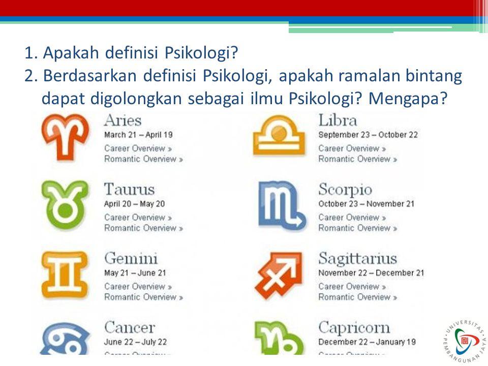 1. Apakah definisi Psikologi
