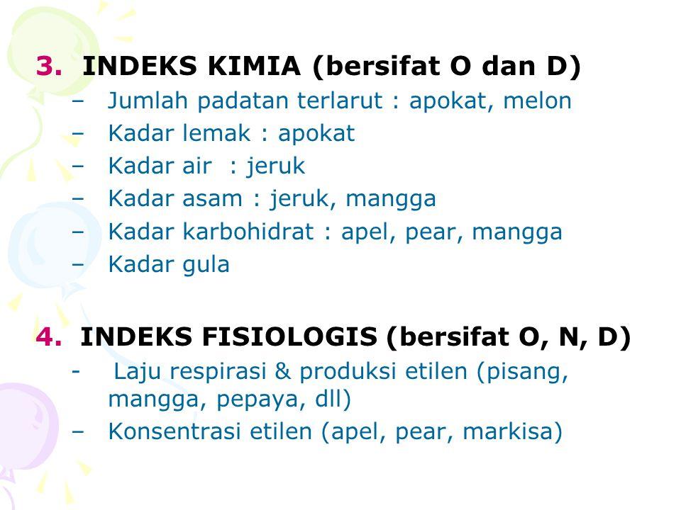 3. INDEKS KIMIA (bersifat O dan D)