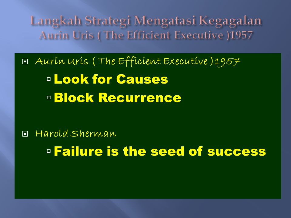 Failure is the seed of success