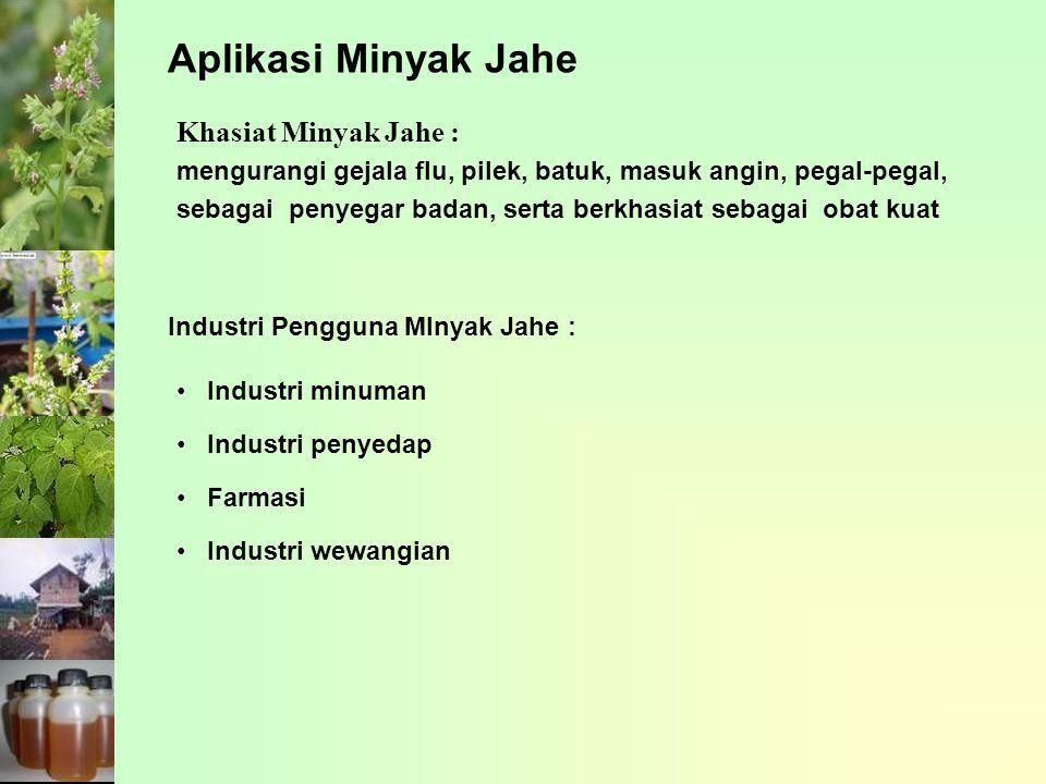Aplikasi Minyak Jahe Khasiat Minyak Jahe :