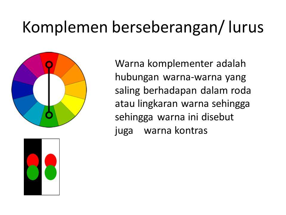 Komplemen berseberangan/ lurus