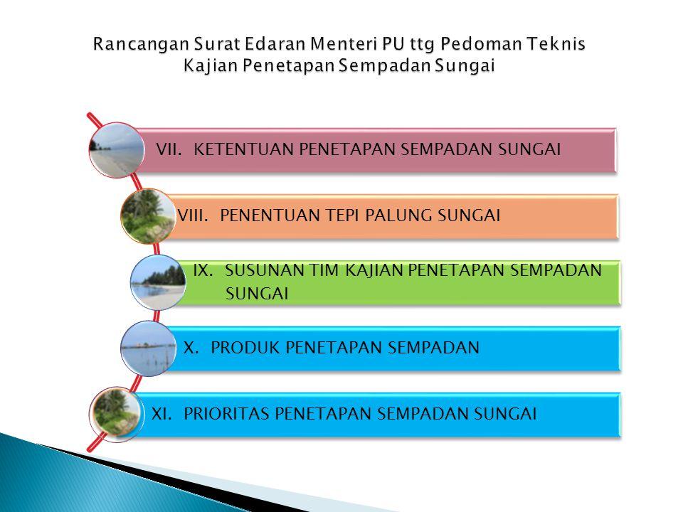Rancangan Surat Edaran Menteri PU ttg Pedoman Teknis Kajian Penetapan Sempadan Sungai