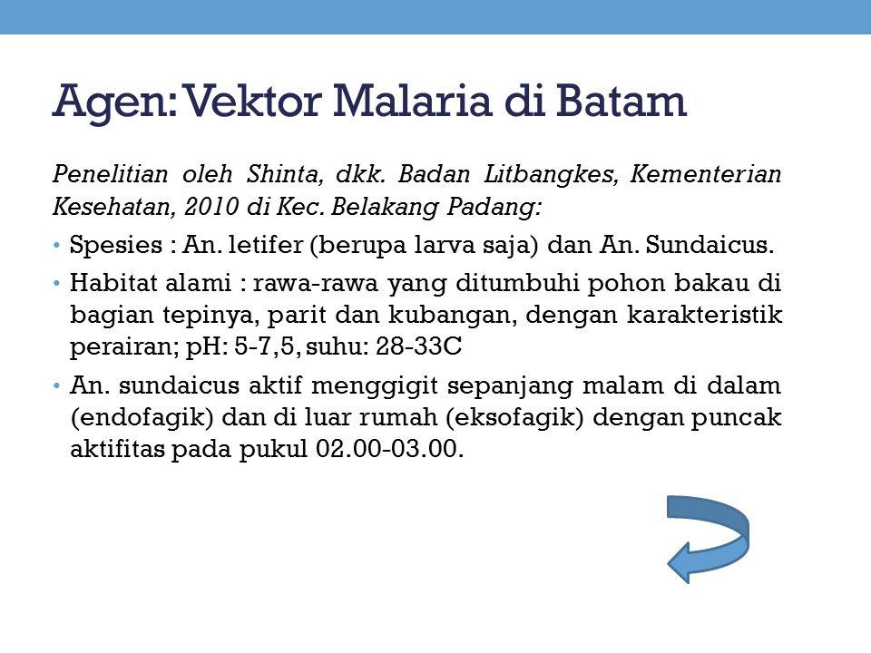 Agen: Vektor Malaria di Batam