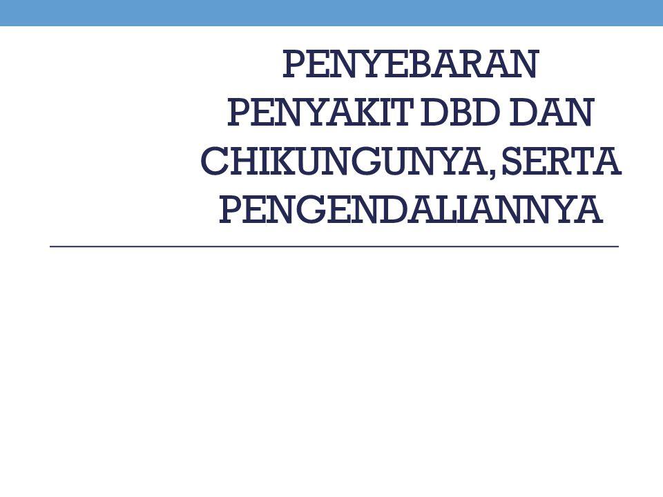 Penyebaran Penyakit DBD dan Chikungunya, serta Pengendaliannya