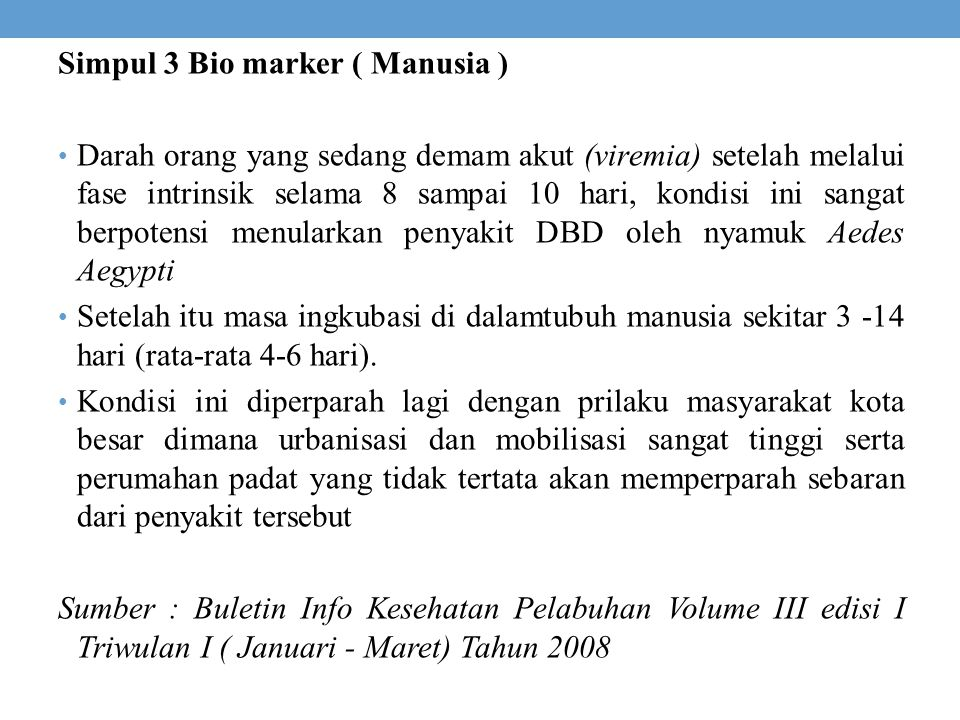 Simpul 3 Bio marker ( Manusia )