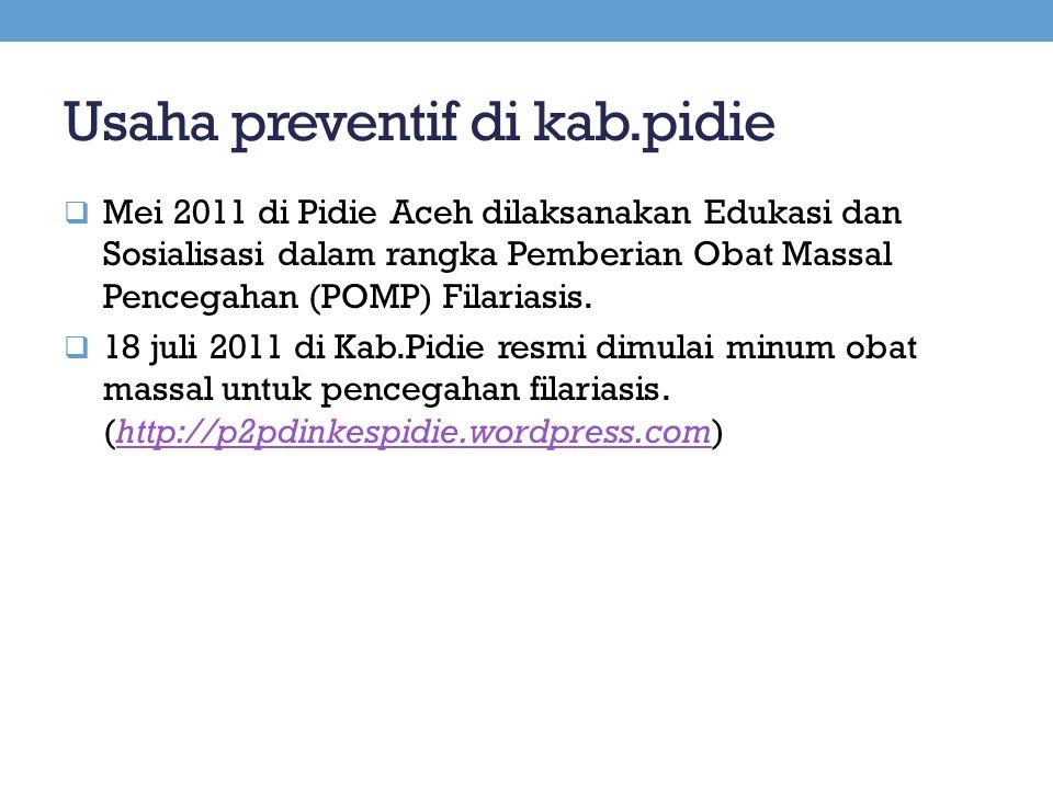 Usaha preventif di kab.pidie