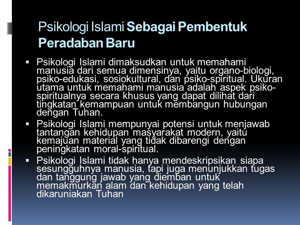 Psikologi Islami Sebagai Pembentuk Peradaban Baru