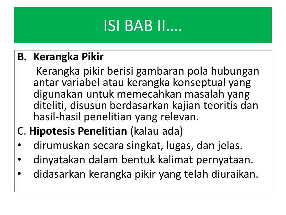 ISI BAB II…. Kerangka Pikir