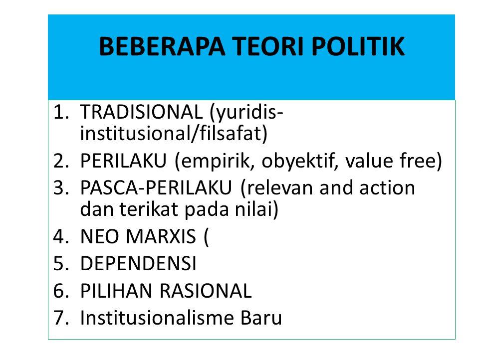 BEBERAPA TEORI POLITIK