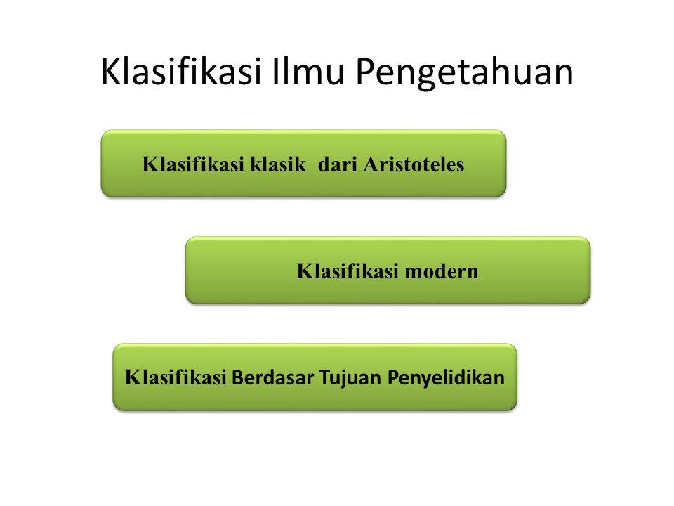 Klasifikasi Ilmu Pengetahuan