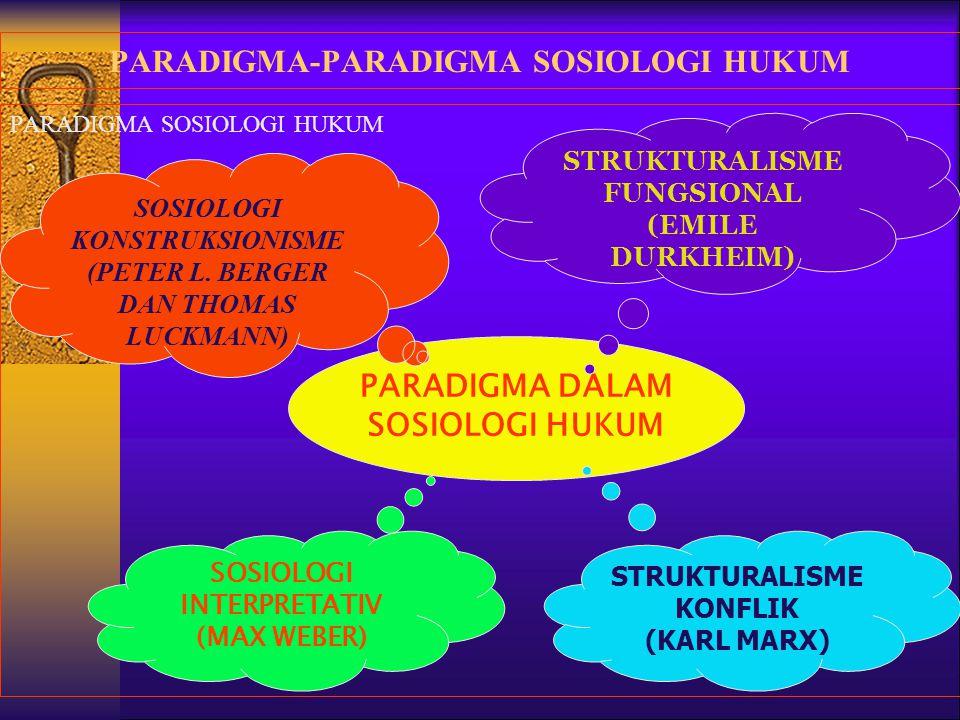 PARADIGMA-PARADIGMA SOSIOLOGI HUKUM
