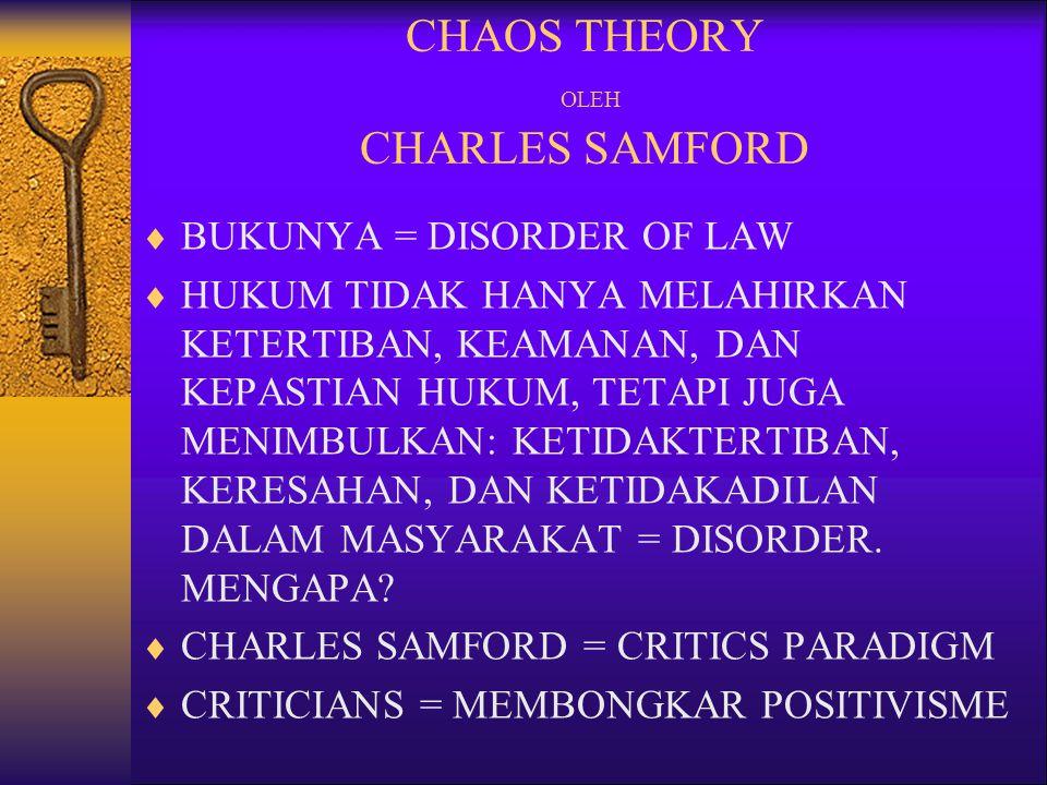 CHAOS THEORY OLEH CHARLES SAMFORD
