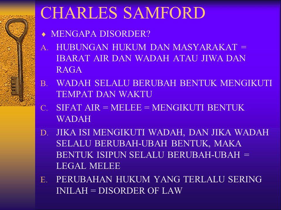 CHARLES SAMFORD MENGAPA DISORDER