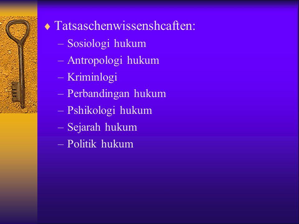 Tatsaschenwissenshcaften: