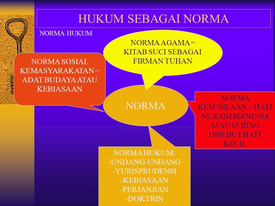 HUKUM SEBAGAI NORMA NORMA