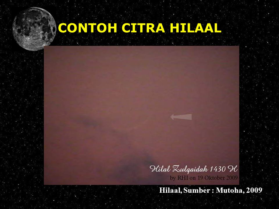 CONTOH CITRA HILAAL Hilaal, Sumber : Mutoha, 2009