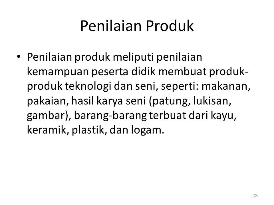 Penilaian Produk