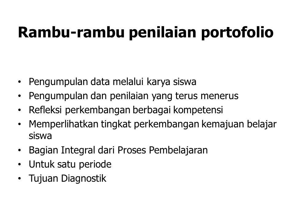 Rambu-rambu penilaian portofolio