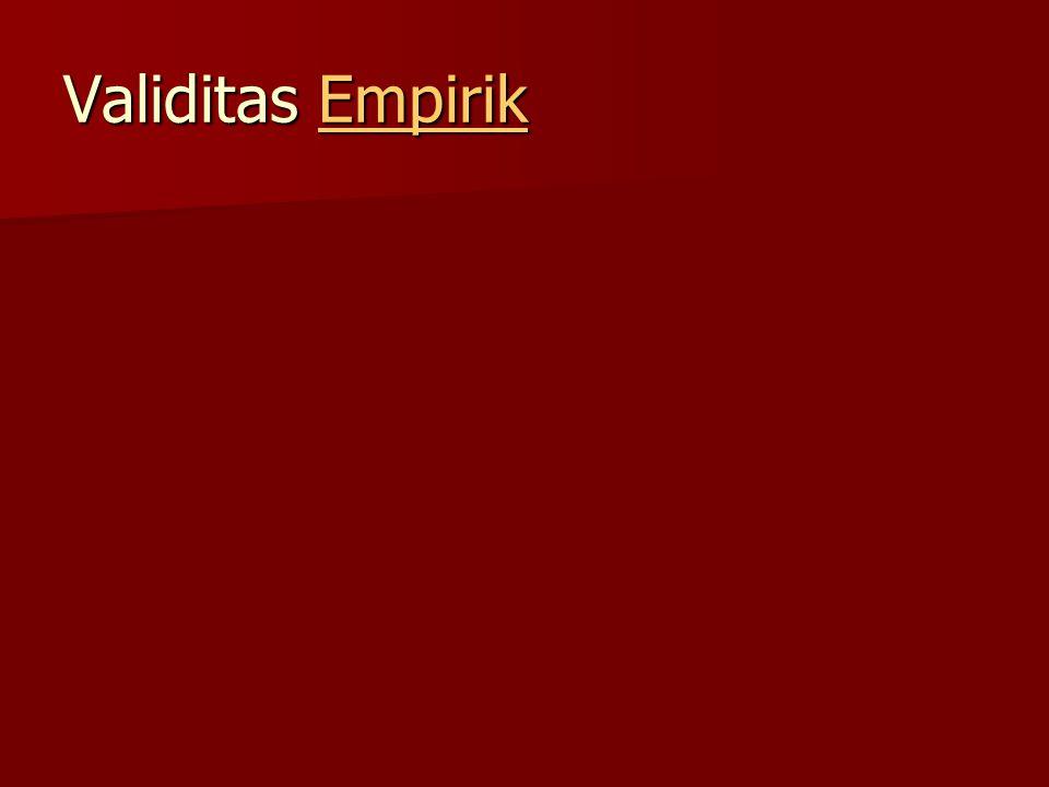 Validitas Empirik
