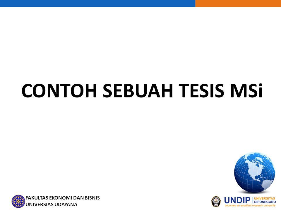 CONTOH SEBUAH TESIS MSi
