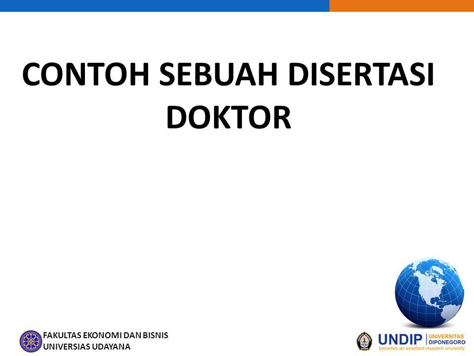 CONTOH SEBUAH DISERTASI DOKTOR