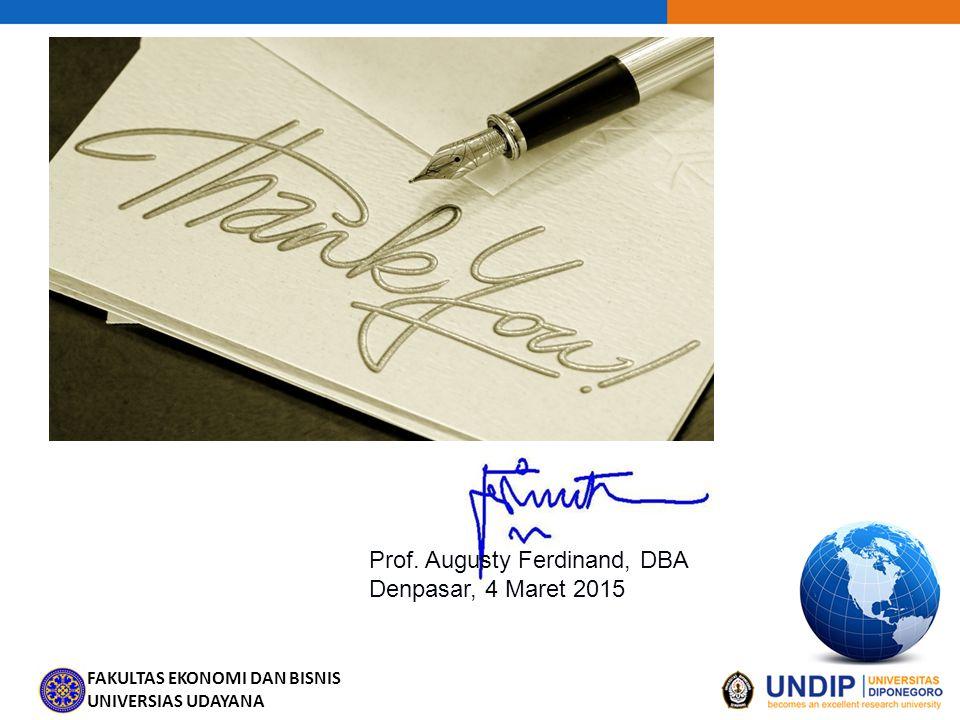 Prof. Augusty Ferdinand, DBA