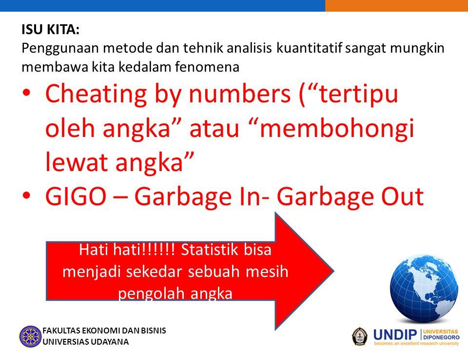 GIGO – Garbage In- Garbage Out