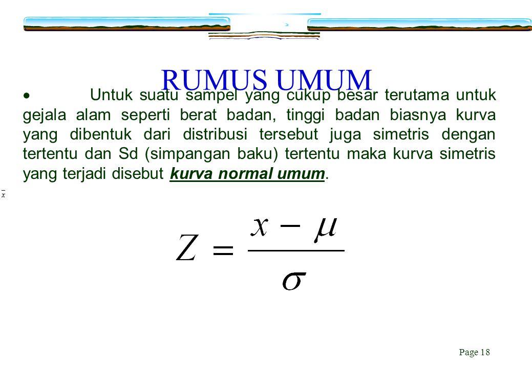 RUMUS UMUM
