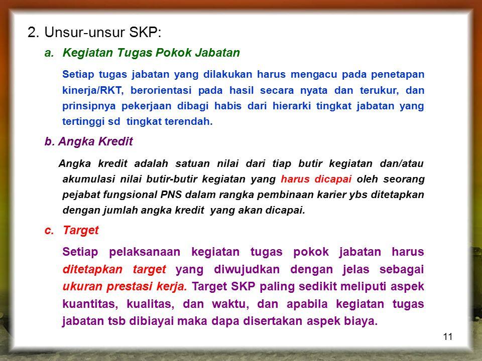 2. Unsur-unsur SKP: Kegiatan Tugas Pokok Jabatan