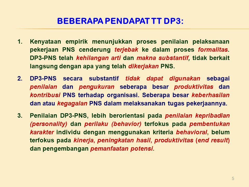 BEBERAPA PENDAPAT TT DP3: