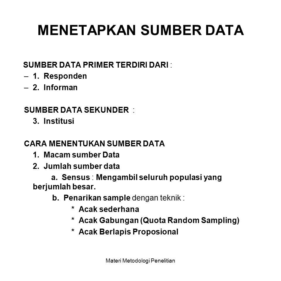 DATA / INFORMASI YANG DIPERLUKAN