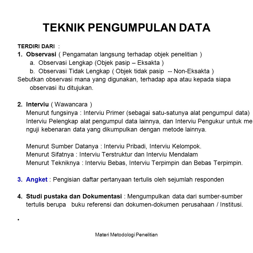 SUMBER DATA / INFORMASI