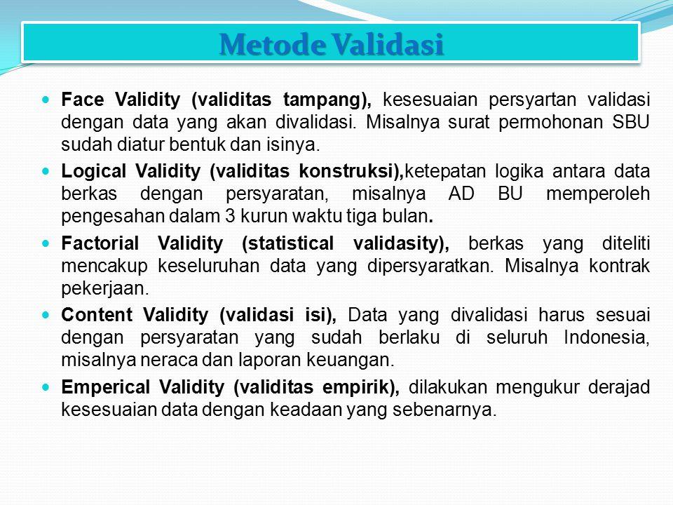 Metode Validasi