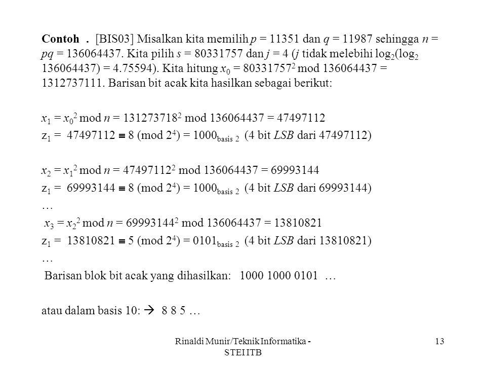 Rinaldi Munir/Teknik Informatika - STEI ITB
