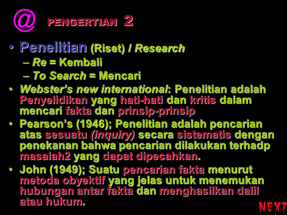 Penelitian (Riset) / Research