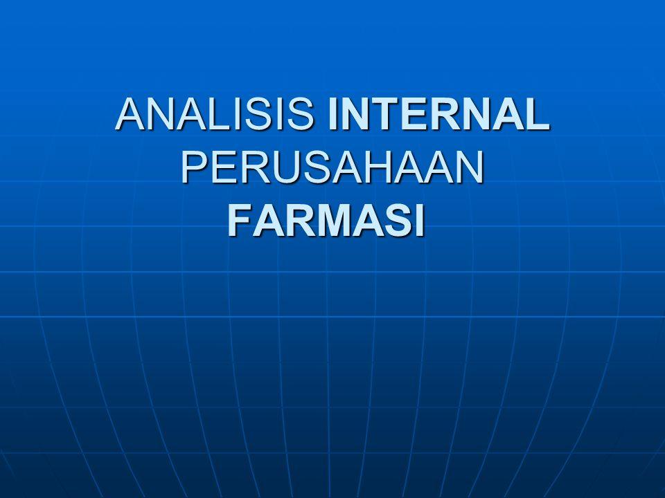 ANALISIS INTERNAL PERUSAHAAN FARMASI