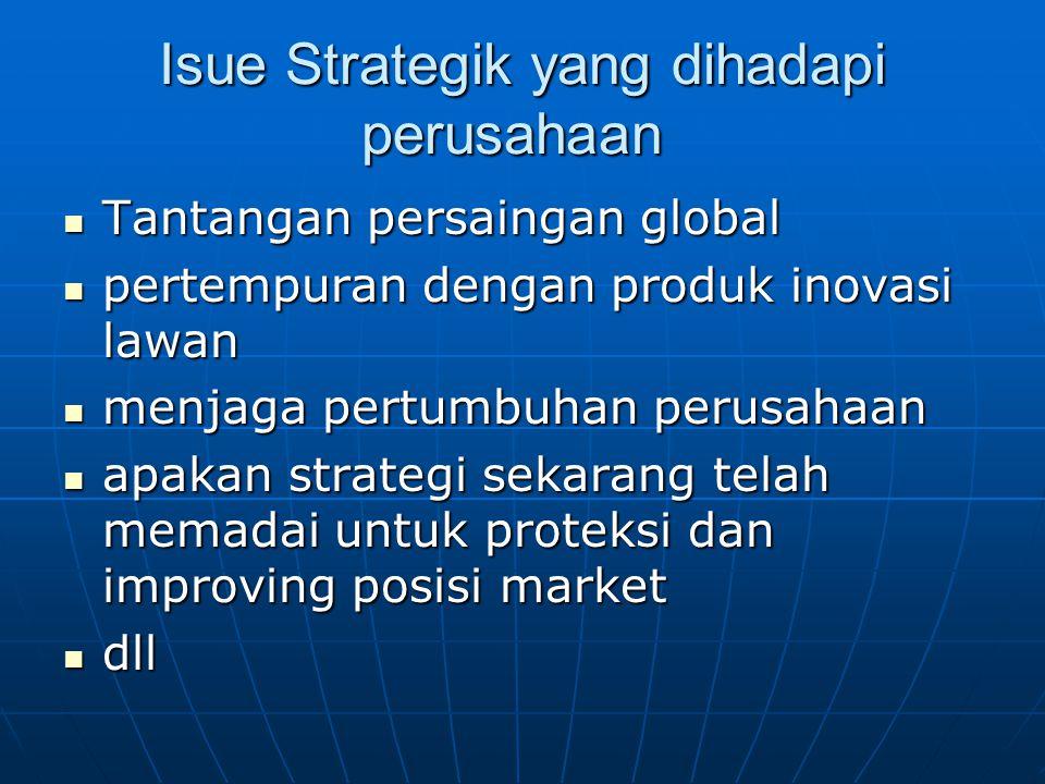 Isue Strategik yang dihadapi perusahaan