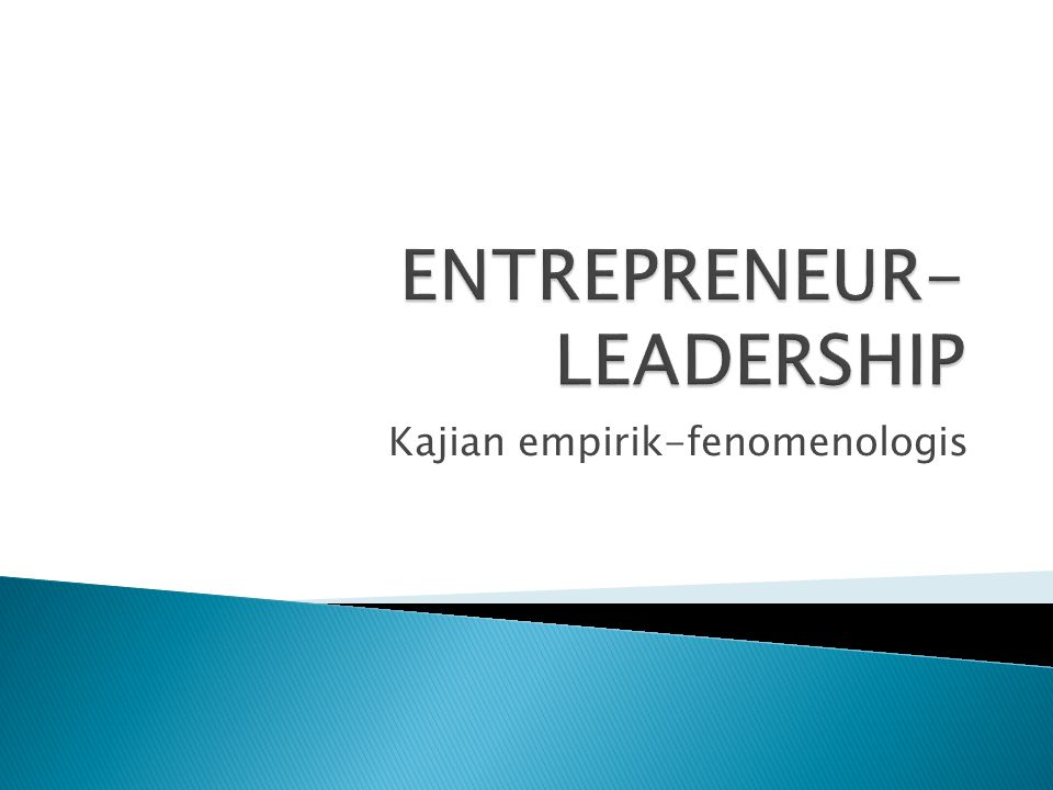 ENTREPRENEUR-LEADERSHIP