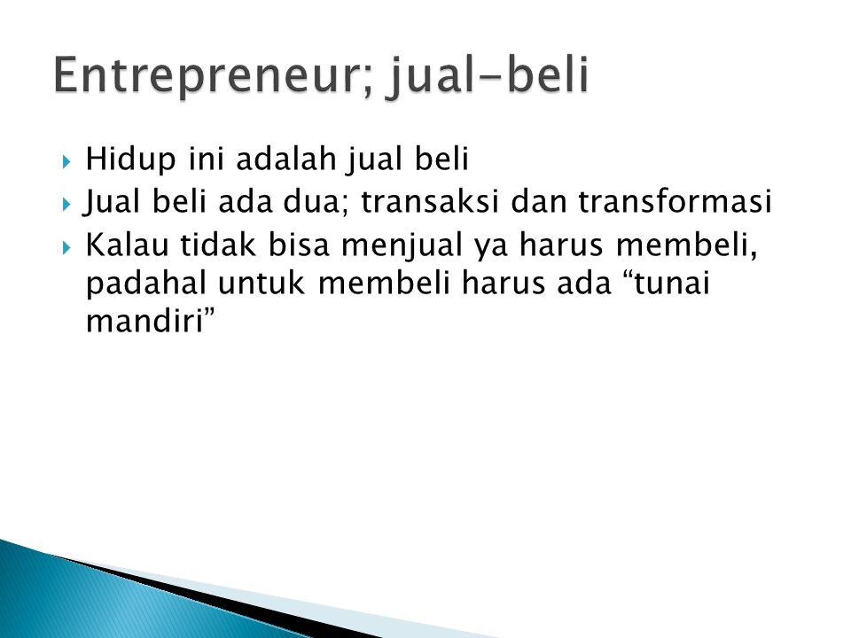 Entrepreneur; jual-beli