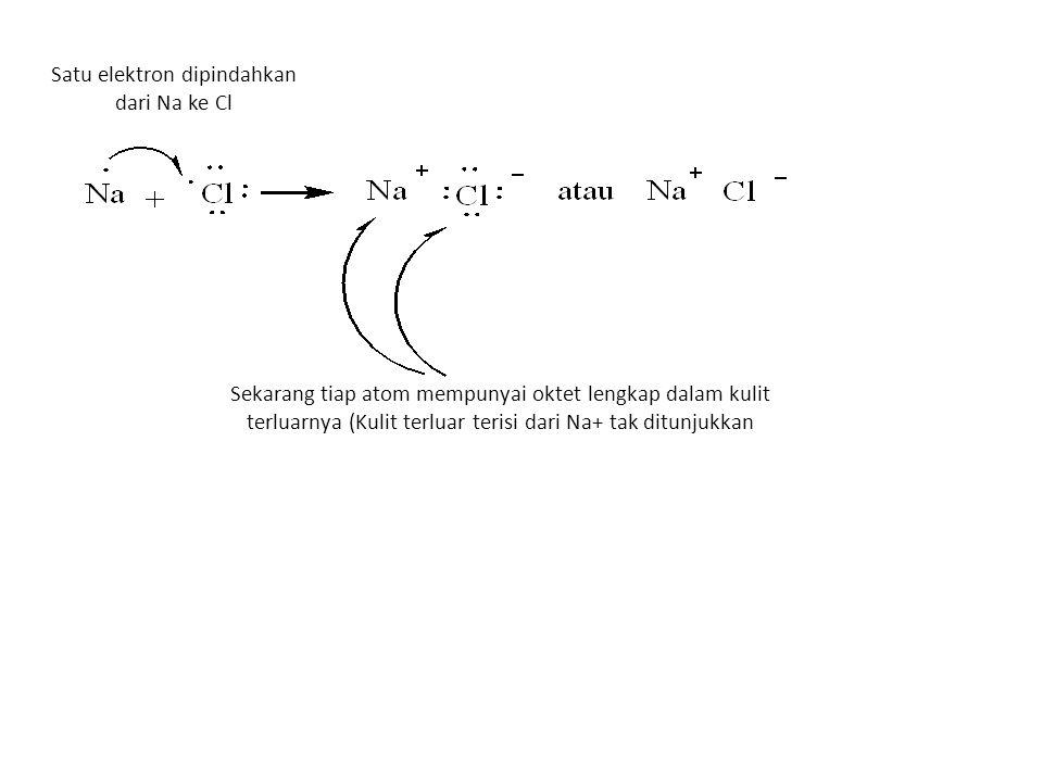 Satu elektron dipindahkan