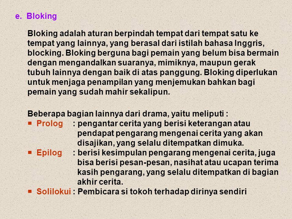 e. Bloking