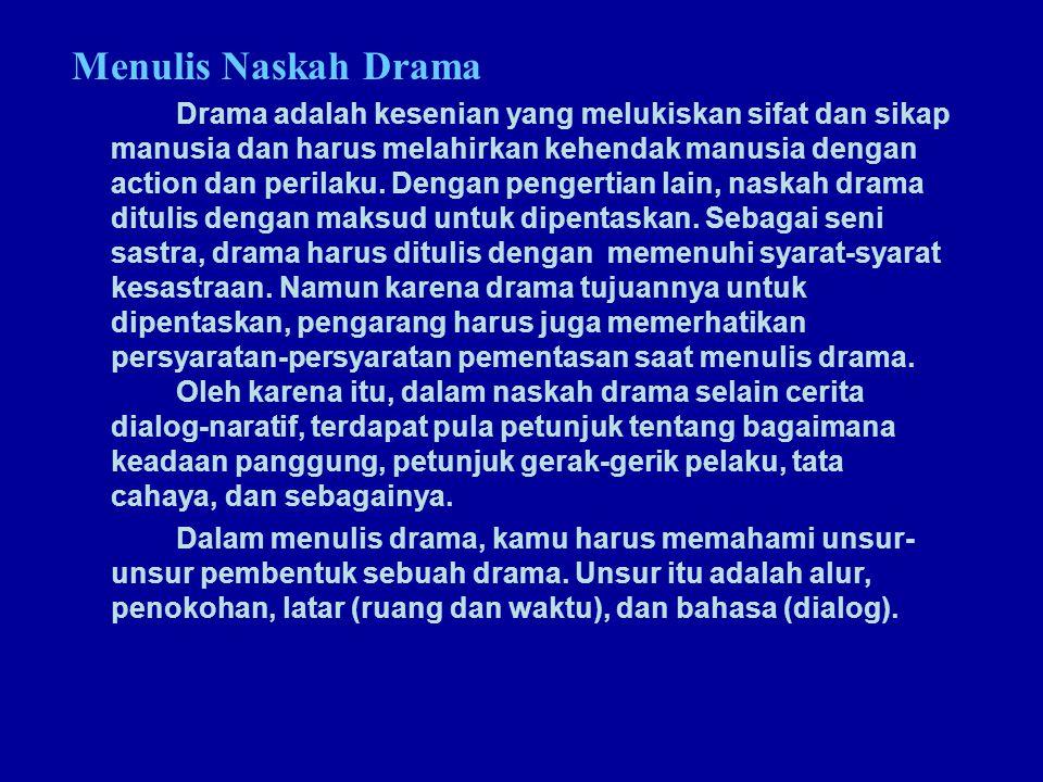 Menulis Naskah Drama