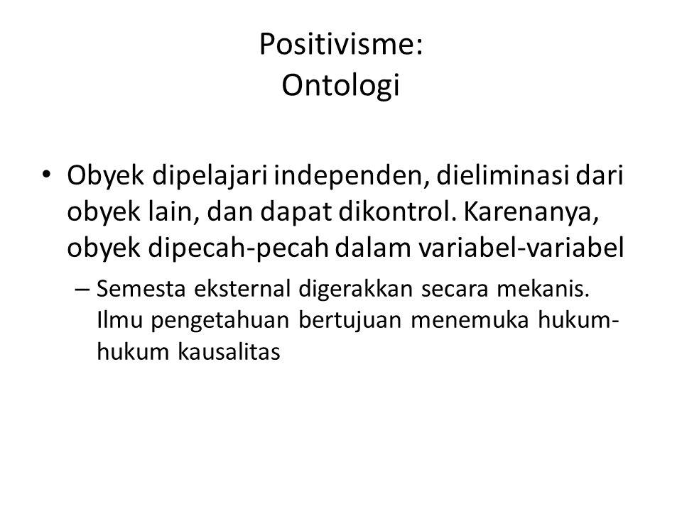 Positivisme: Ontologi