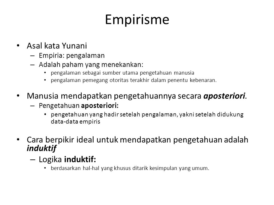 Empirisme Asal kata Yunani