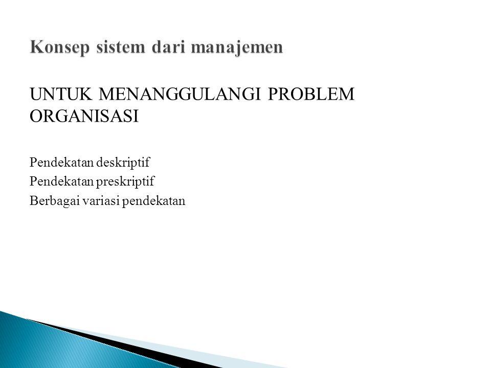 Konsep sistem dari manajemen