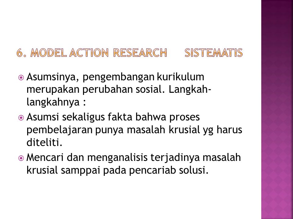 6. Model Action Research sistematis