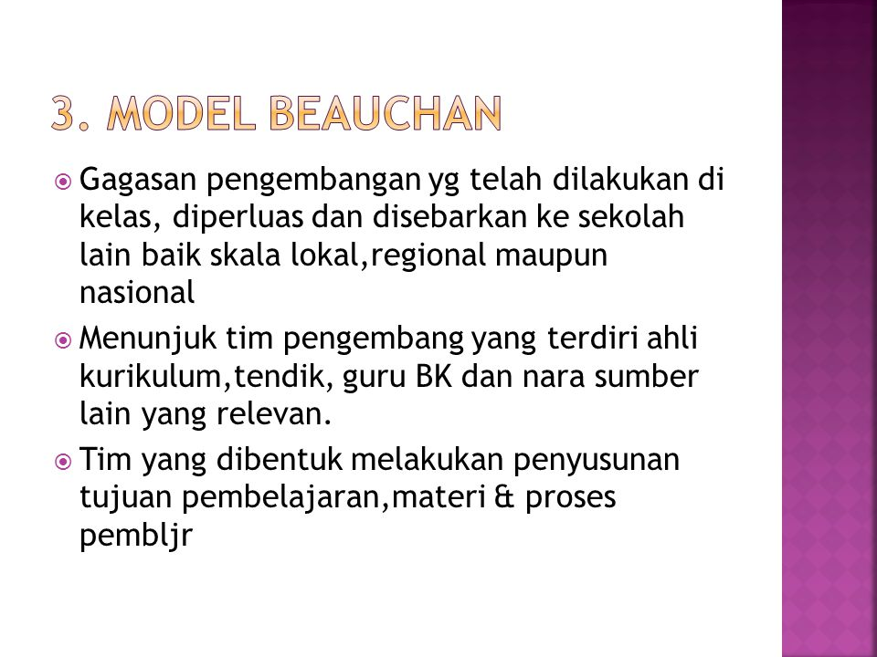 3. Model Beauchan