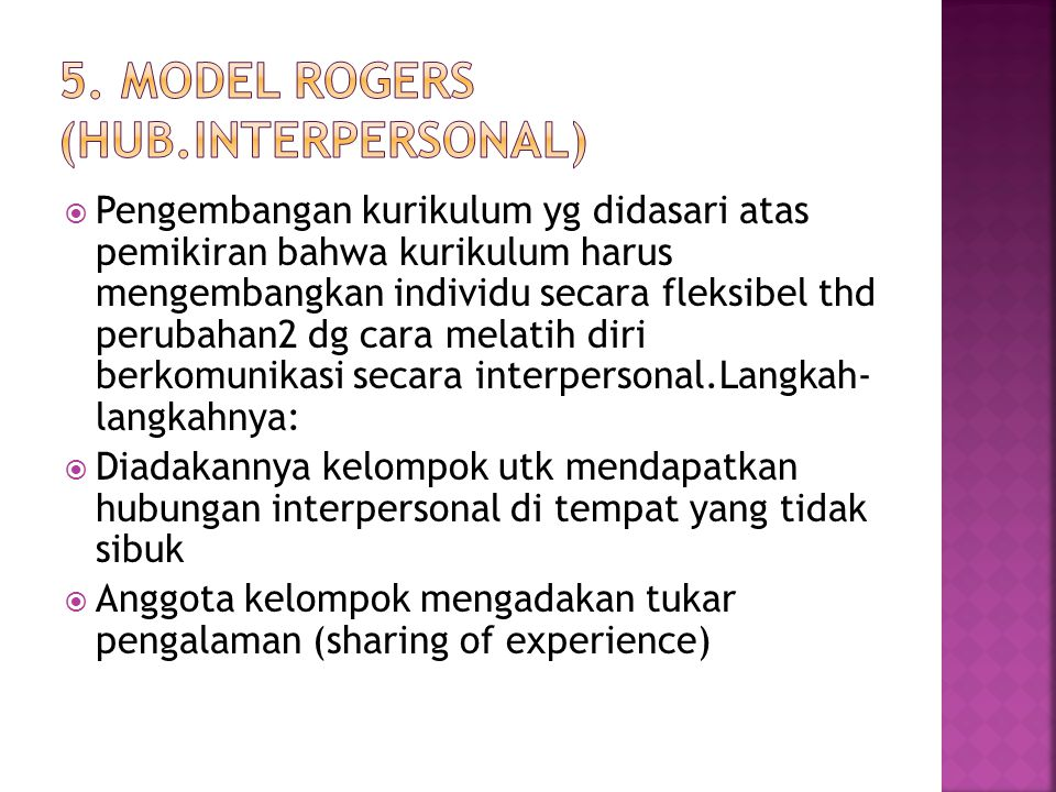 5. Model Rogers (hub.interpersonal)