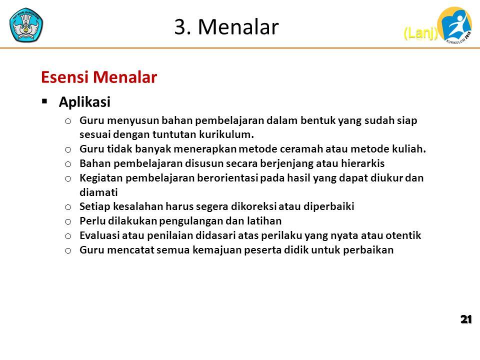 3. Menalar Esensi Menalar Aplikasi