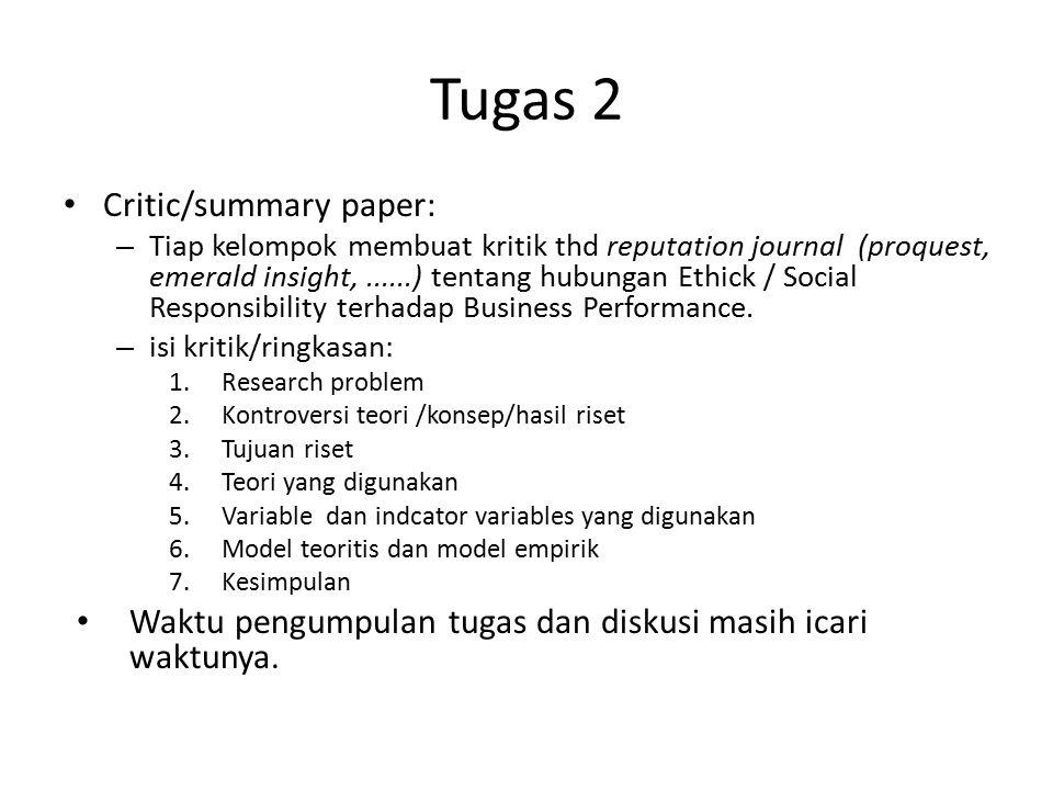 Tugas 2 Critic/summary paper: